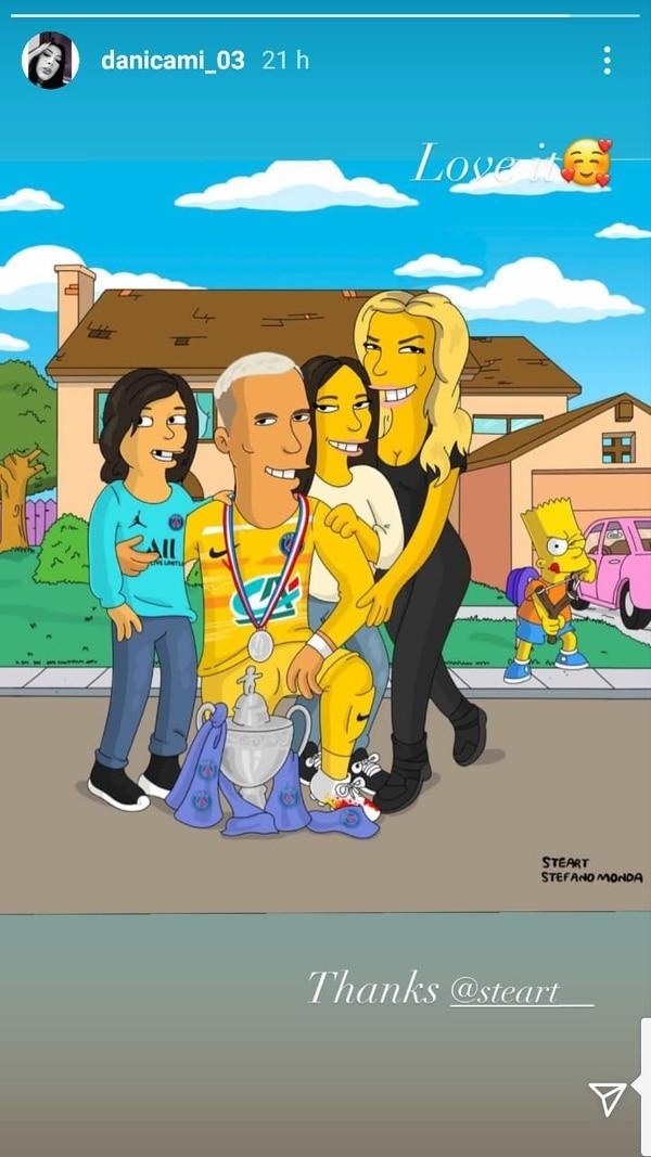 """Los """"Navas Salas Simpsons"""" quedaron bastante graciosos. Instagram."""