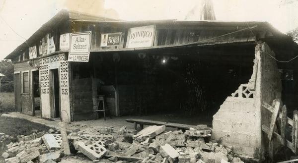 El 2 de abril de 1983 un terremoto de 6.3 grados dejó una persona muerta y mucho daños materiales. Foto: Grupo Nación.