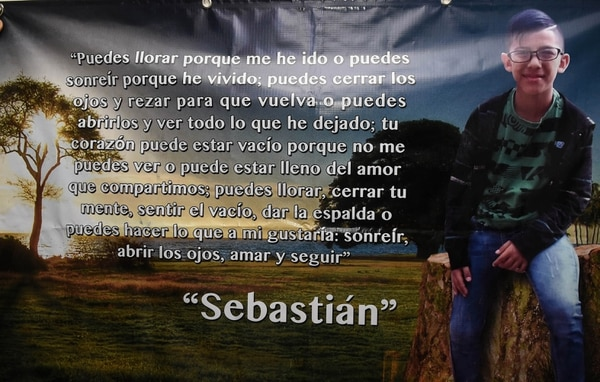 Un lindo mensaje para recordar a Sebastián. Carlos González / Agencia Ojo por ojo