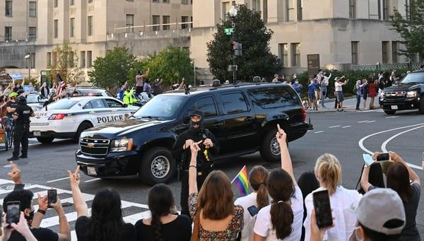 Algunas muestras de cariño para Donald Trump. Foto: AFP