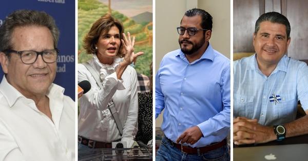 De izq. a der. Arturo Cruz, Cristiana Chamarro, Félix Maradiaga y Sebastián Chamorro están detenidos.