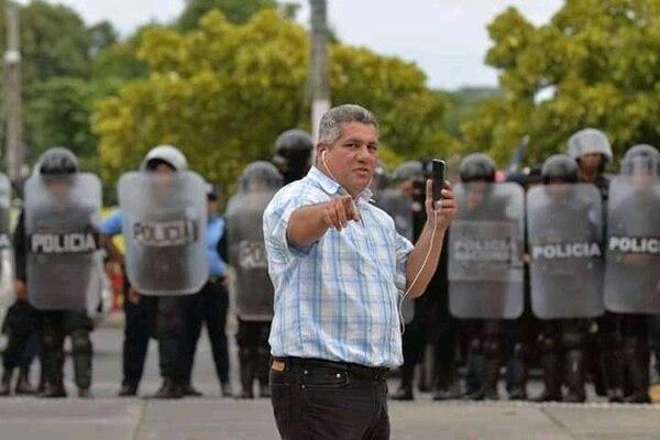 El periodista se contagió mientras cubría noticias del avance del Covid-19 en Managua. Cortesía.