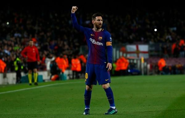 Lionel Messi festeja que sus cuentas de banco crecen tanto como las de sus goles. Foto: AFP