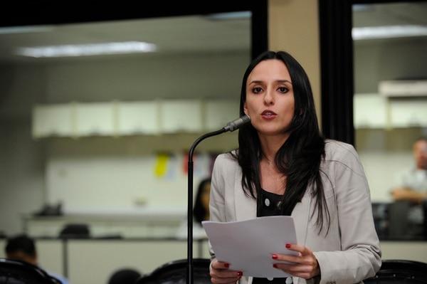 Díaz fue diputada del Movimiento Libertario. Foto: Rafael Murillo.