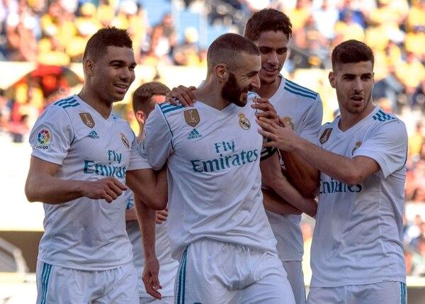 Karim Benzemá llegó a 400 partidos como merengue y además fue el capitán. AFP