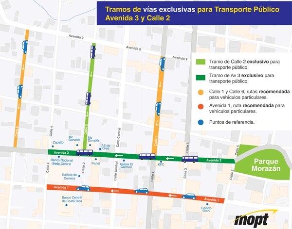 Póngale buena atención a los cambios que se vienen en avenidas 3 y 6, así como en calle 2. Cortesía.