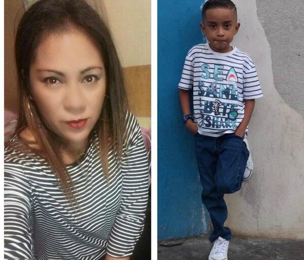 Yamerlin Candelaria Altamirano Funes y su hijo Mauricio Alexander Suárez Altamirano de 6 años son buscados por los judiciales. Foto: OIJ