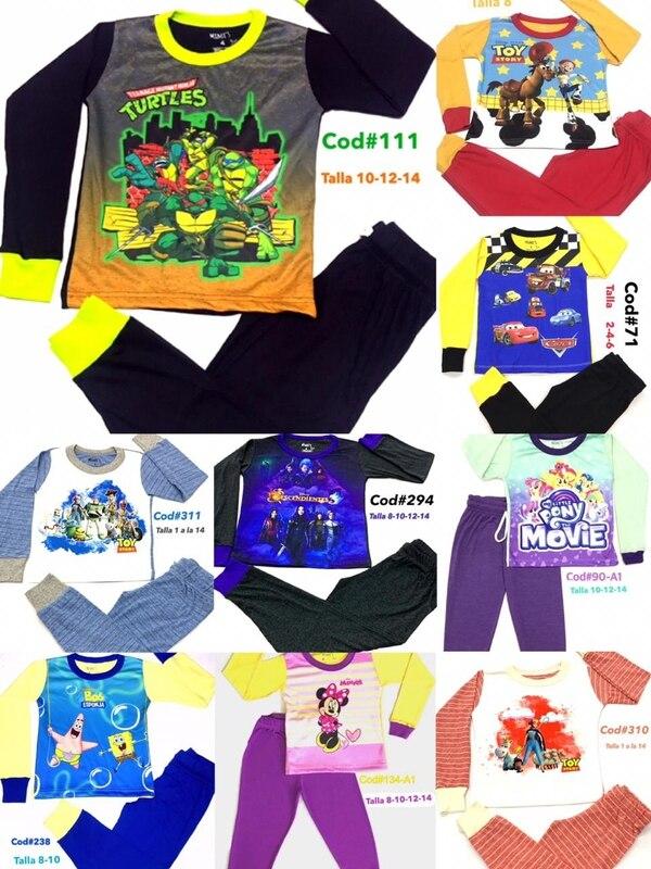 Llega la Navidad y los pequeños de la casa pueden lucir cualquiera de estas pijamas por tan solo ¢5.500. Cortesía.