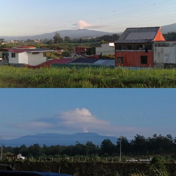 El volcán Poás tuvo pequeña actividad este viernes 20 de setiembre. Fotos Ovsicori.