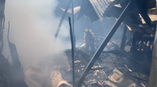 Una soldadura fue la responsable del incendio. Foto: Cortesía