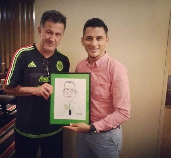 Juan Carlos Osorio cuando dirigió a México. fue otro que pasó por el lápiz de Zurdo. Credíto: Cortesía.