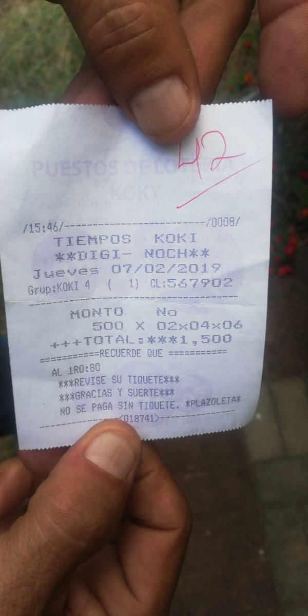 Aquí una muestra de los números que suele jugar don Pedro. Foto: Cortesía.