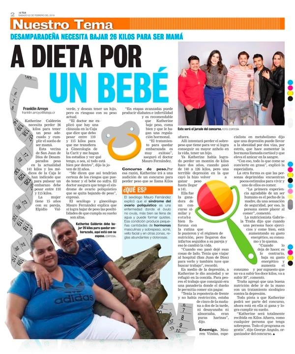 Esta fue la historia que inspiró a Johanna y a Luis Diego a contar su historia y a enviar ánimo a Katherine. Foto: La Teja