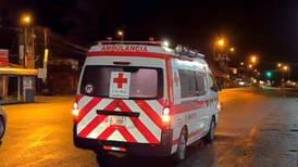 Motociclista accidentado muere en la ambulancia camino al hospital