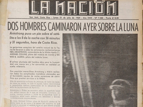 El periódico La Nación le dio cobertura a la hazaña. Foto: Albert Marín.