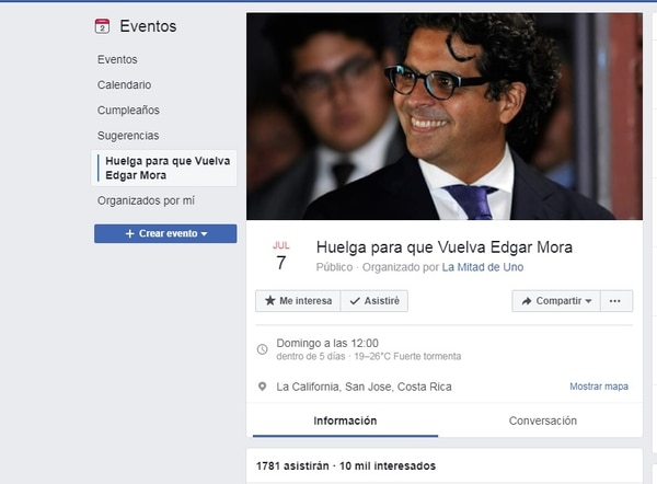 Edgar Mora, movimiento a su favor