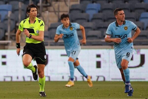 Berman pitó el juego entre el Hapoel Haifa y el Beitar Jerusalem. AFP.