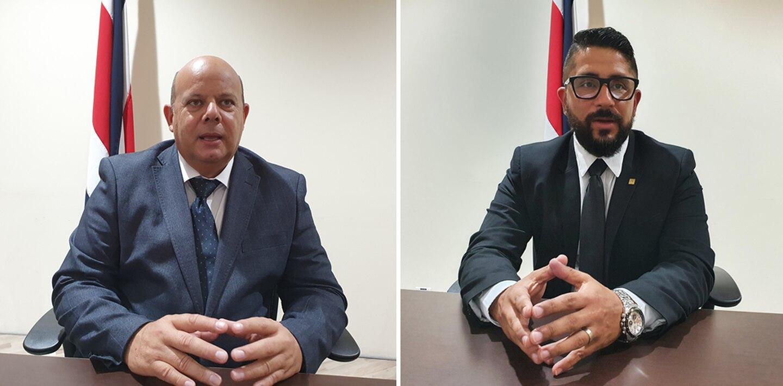 Miguel Ramírez López, fiscal subrogante para el Caso Cochinilla , y Glenn Calvo Céspedes, fiscal adjunto  de la Fiscalía Adjunta de Probidad, explicaron cómo avanza el proceso. Foto: Cortesía, Fiscalía.