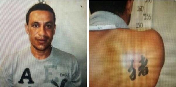 El Monstruo de Liberia cayó por varias cosas entre estas el tatuaje de la espalda, la huella de sangre en un apagador, una pantaloneta con semen. Foto: Archivo GN