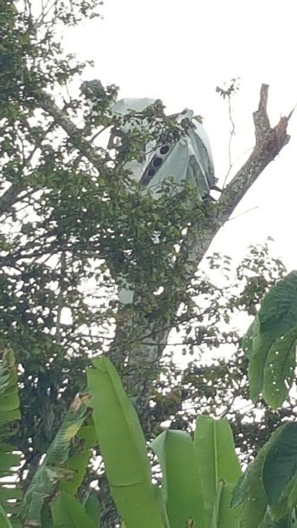 Los vecinos dijeron que vieron la bola de fuego cuando iba cayendo. Foto: Archivo LT
