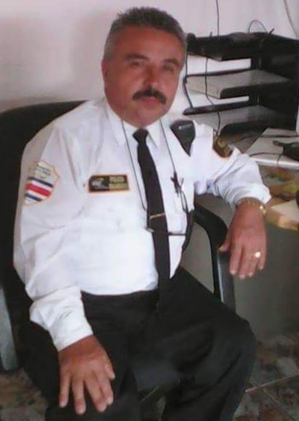 El uniformado dijo que nunca sintió miedo por las amenazas. Foto cortesía Fabio Badilla.