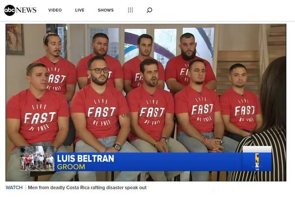 Los sobrevivientes fueron entrevistados por varios medios estadounidenses. Foto tomada ABC News.