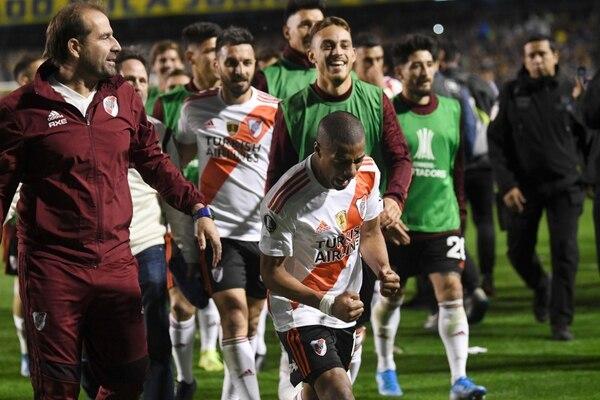 En menos de un año River le dio dos leñazos a Boca en la Copa Libertadores. (AP Photo/Gustavo Garello)