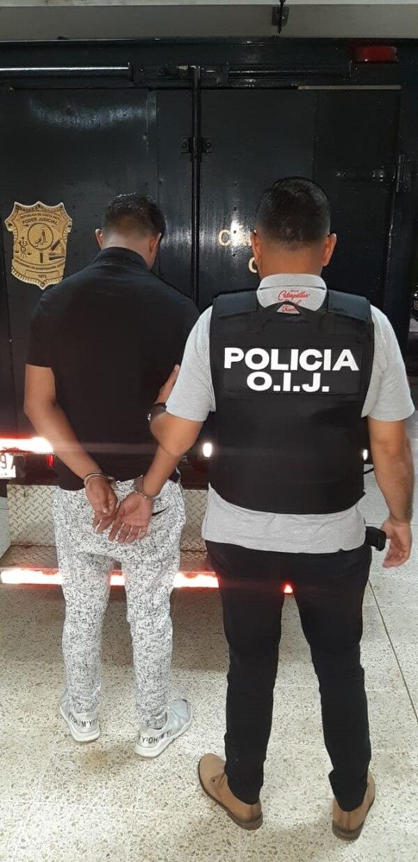Los sospechosos de homicidio son de apellidos León Tellez, de 22 años y Arias Canales, de 21. Foto: OIJ