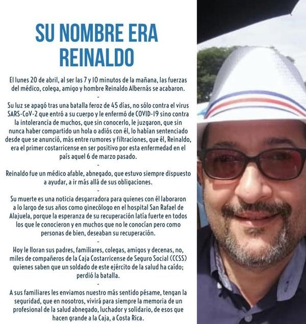 Reinaldo Albernás fue recordado como un médico de gran corazón.