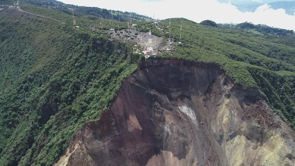 Según Gutiérrez, los deslizamientos se vienen dando desde hace más de dos años. Foto CNE.