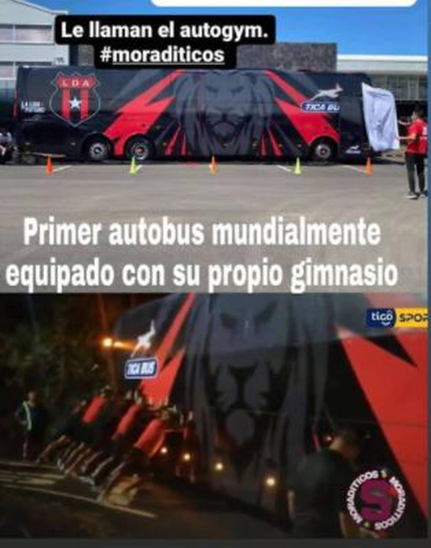 Memes del incidente con el bus de Alajuelense. Cortesía.