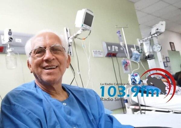 El obispo Fray Gabriel Enrique Montero Umaña se está recuperando en el hospital San Juan de Dios. Foto: Radio Sinaí.