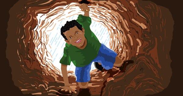 Bertoni Coronado Vásquez, de 12 años, soñaba con un propio túnel para jugar él y sus primos.