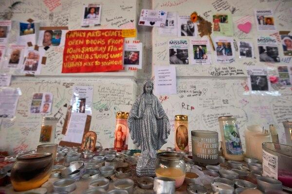 Doble propósito. Tributo a los fallecidos y esperanza para encontrar víctimas que estén perdidas./ AFP