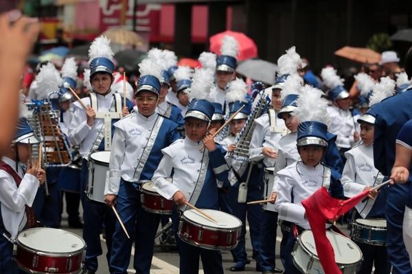 La banda de la escuela Unificada cerró su participación con una canción de Adele. Foto: Alonso Tenorio