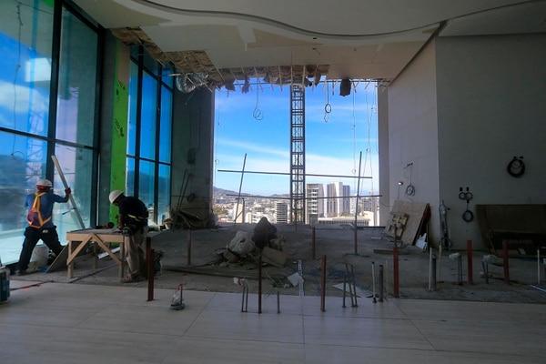 Esta foto corresponde al piso 18 donde se ubicará el lobby y un restaurante. Foto: Rafael Pacheco.