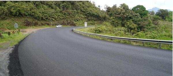 Todavía los siete kilómetros no fueron señalizados, cuando pase por la zona tenga cuidado. Cortesía Mopt.