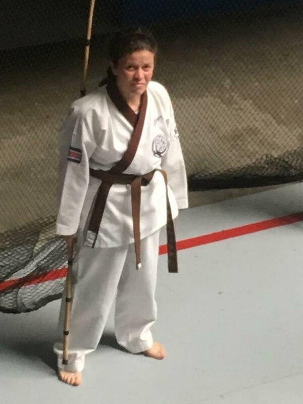 Paula también era una apasionada del Tang Soo Do, que es karate coreano. Foto tomada de Facebook.