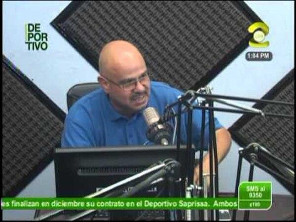 Guillermo Antonio Ulate comentarista de Deportes Monumental, Foto: Solo Futbol Costa Rica