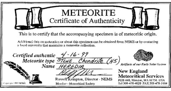Este fue el certificado de compra que se hizo después de la compra en 1999. Foto: RSN.