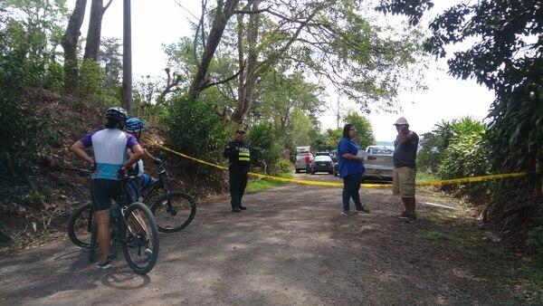 Los ciclistas que acostumbran andar por la calle vieron frenado su recorrido. Foto: José Cordero