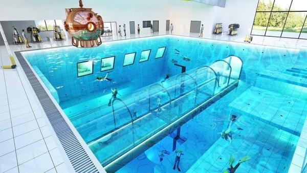 La piscina está ubicada en Mszczonów, a unos 40 kilómetros al sudoeste de la capital polaca, Varsovia.