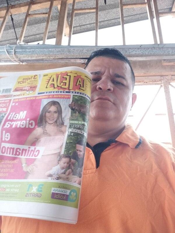 Don Eduardo no cambia La Teja por nada, pues el ha regalado platica. Cortesía: Eduardo Cabrera.