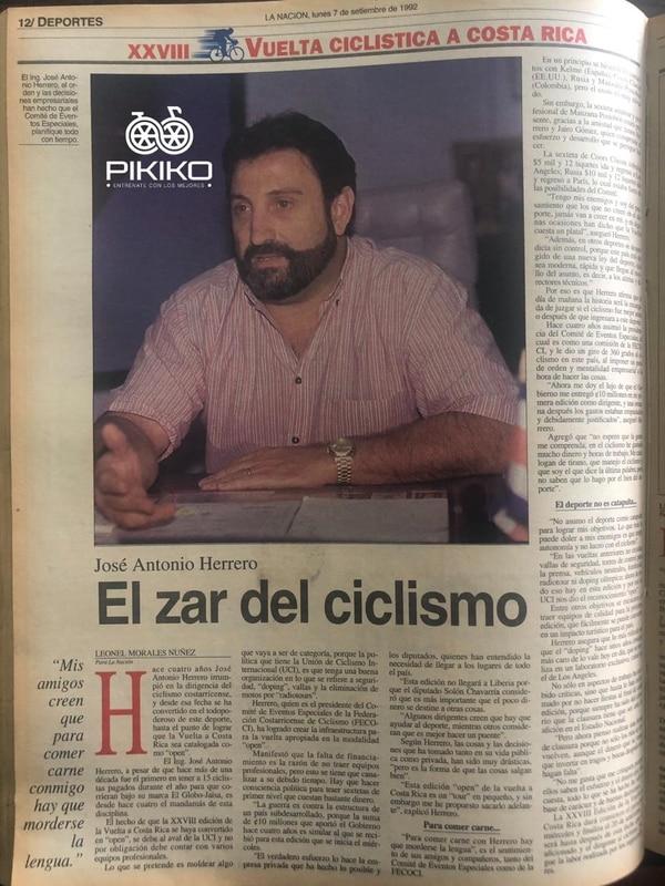 Pikiko colaboró con un dirigente de los más destacados del ciclismo nacional, José Antonio Herrero. Foto: Alexander Sandoval