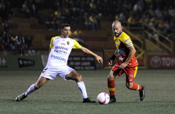 Esteban Ramírez marcó el segundo gol del Team con un remate colocado al segundo palo. Foto: Rafael Murillo.
