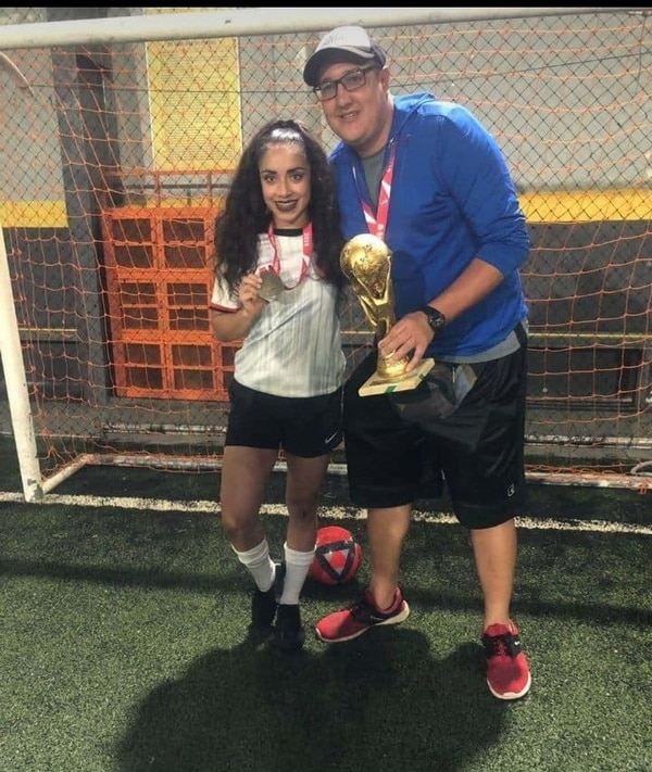 El año pasado el equipo de Prado ganó el campeonato interno de fútbol del Bac. Foto cortesía.