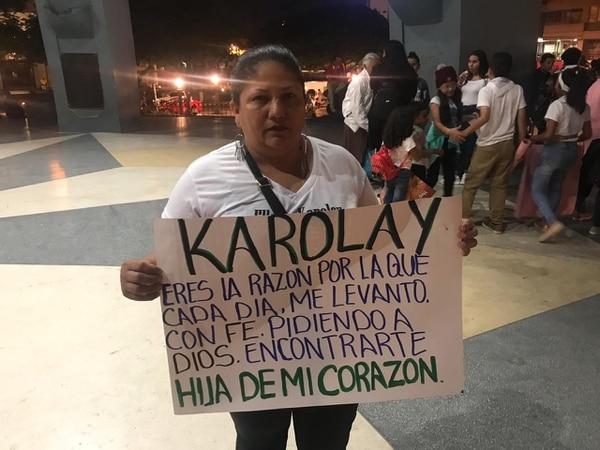 Doña Rosmery no ha dejado de buscar a su amada hija. Foto Adrián Galeano Calvo.