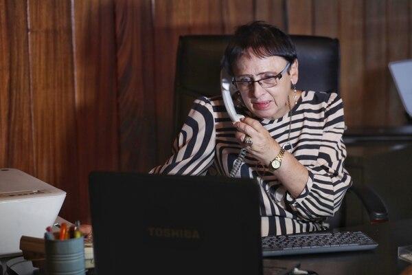 La señora Eugenia María Cartín. JOHN DURAN