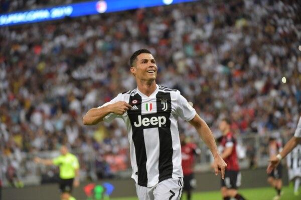 Cristiano Ronaldo anotó su gol 19 en 28 finales que ha disputado. Foto: AFP