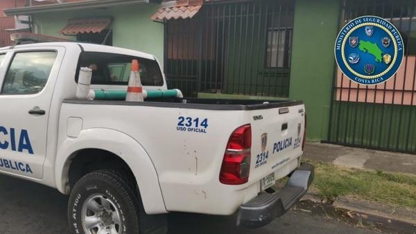 Ruiz se atrincheró en esta casa, desde la que amenazó a los oficiales. Foto MSP.